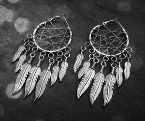 boho, dreamcatcher, and earring image
