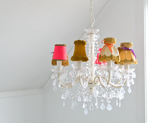 chandelier, diy, and home image