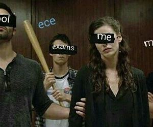 teen wolf, exams, and funny image