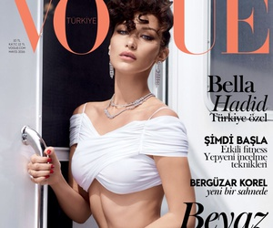 vogue and bella hadid image