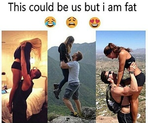 couple, funny, and fat image