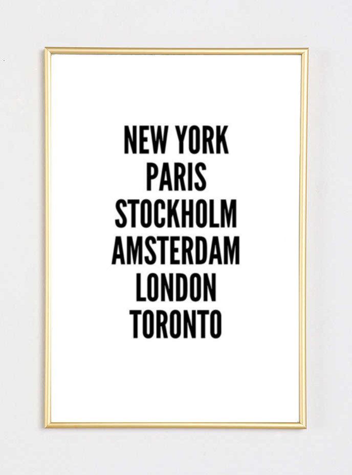 New York Cities Fashion Bedroom Quote Typographic Print Inspirational Motivational Tumblr Room Decor Framed Quotes Teen Boho