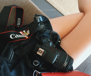 camera, red bag, and canon image