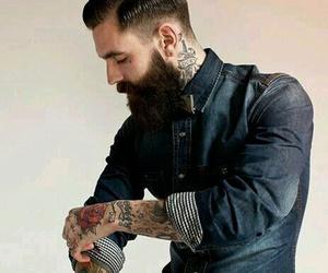 tattoo, beard, and man image