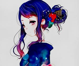 anime girl, anime, and kimono image