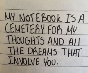dreams, quote, and notebook image
