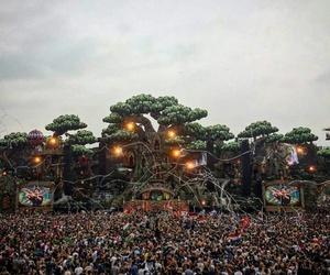 dj, festival, and edm image