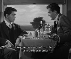 black and white, murder, and ideas image