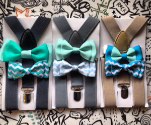 etsy, wedding ring bearer, and bow tie suspenders image