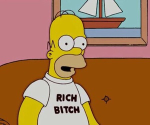 rich, simpsons, and homer image