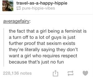 feminism, tumblr, and women image
