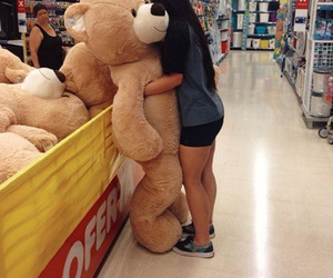 girl, bear, and tumblr image