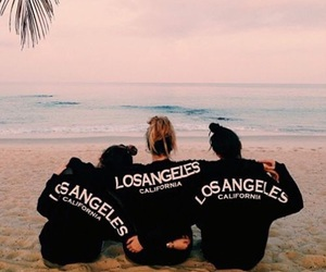 beach, friends, and los angeles image