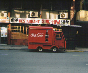 vintage, red, and coca cola image