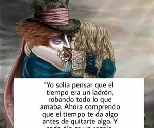 alice in the wonderland, time, and frases en español image