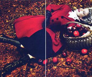 red, little red riding hood, and vogue image