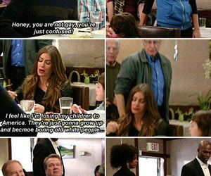 funny, modern family, and gloria image