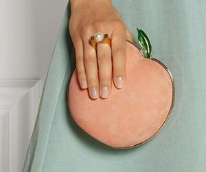 peach, fashion, and bag image