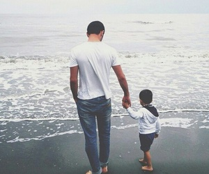 family, sea, and baby image