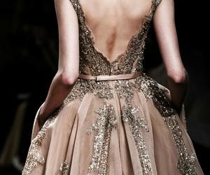 beauty, catwalk, and dress image
