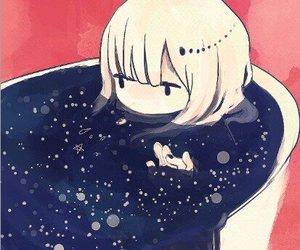 anime, bath, and drawing image