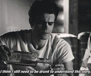 tvd, drunk, and stefan image