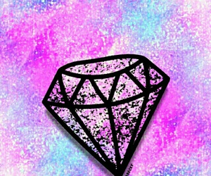 diamond, galaxy, and glitter image