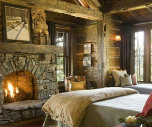 bedroom, fireplace, and room image