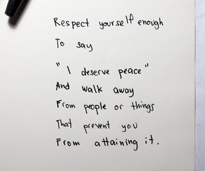 quotes, peace, and respect image