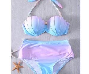 bikini, mermaid, and summer image
