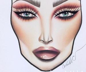 makeup, eyebrows, and cut crease image