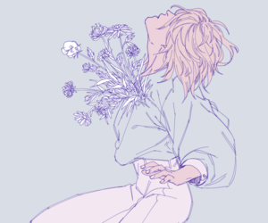 pastel, anime, and flowers image