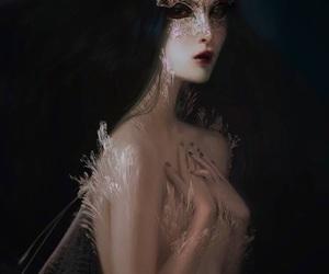 art, fantasy, and mask image