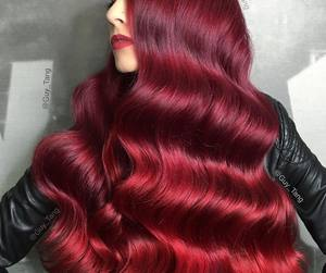 hair, pretty, and red hair image