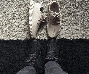 black, shoes, and yeezy image