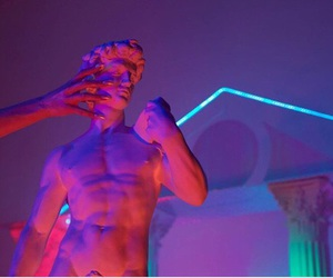 beauty, sculpture, and neon image