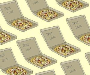 pizza, wallpaper, and true love image