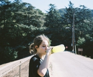 girl, willa holland, and drink image