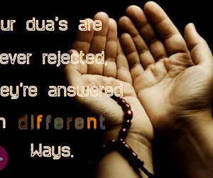 allah, rejected, and answer image