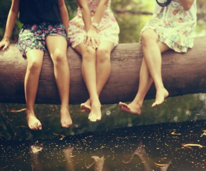 girl, friends, and water image
