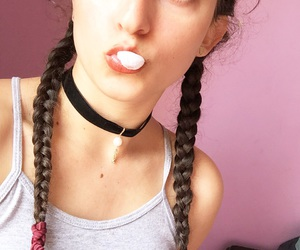 90s, braids, and chokers image