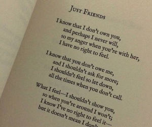 book, just friends, and poetry image