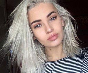 girl, lips, and cosmetics image