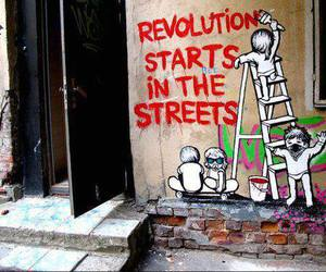revolution, art, and graffiti image