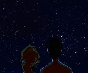 stars, couple, and gif image