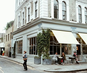 city, building, and cafe image