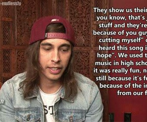 cutting, inspirational, and pierce the veil image