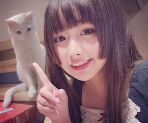 adorable, cat, and cute girl image