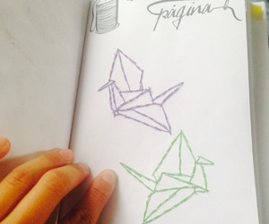 grullas, paper bird, and wreck this journal image