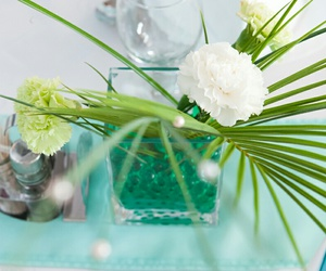 flowers, green, and white image